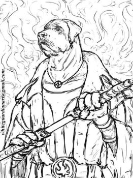 Tosa the Sword Master SPEED SKETCH by whiteguardian