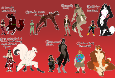lotsa werewoof adopts [1/7 OPEN - usd OTA or AB] by sl1med0g