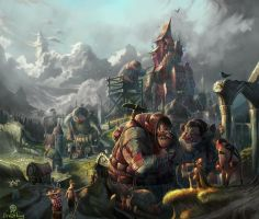 giants to bulit the dream on by breath-art