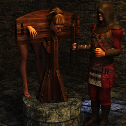 Pillory Challenge 4 - Whip by Dracis3D