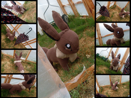 Commission: Eevee life size by MouseAlchemist