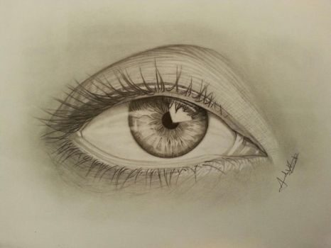 Eyes with Hyperrealism tecnique :) by CroixArt