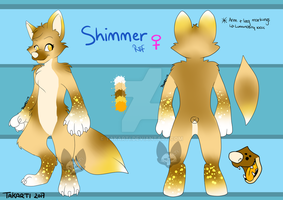 Shimmer ref sheet by Takarti