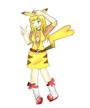 Pika girl by Fraiy