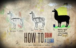 How to draw a llama by Morday