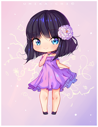 [Commission] Violet Heart by Umika-chi