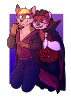 vampire and victim finished ych by Solnc