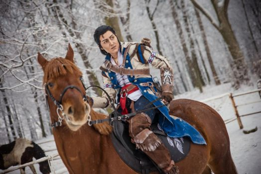 That way, Connor! /Assassin's Creed III cosplay by Blink005