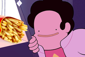 wen sM1 leaves there fries untended by beehands