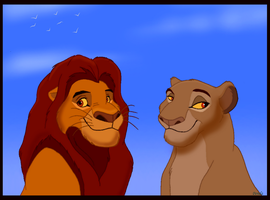 King Mufasa and Queen Sarabi by Penda321