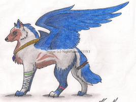 Amaro the Winged Wolf by Morgan-Michele