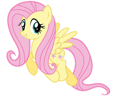 Fluttershy Vector - Yoo Hoo! by Anxet