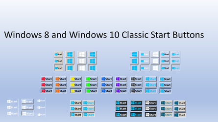 Windows 8 and Windows 10 Classic Start Buttons by dogchew57