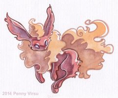 Flareon by Penny-Dragon