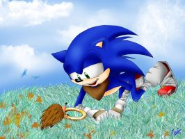 Sonic and the Hedgehog by kosmo1995