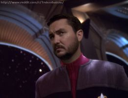 Wesley Crusher in DS9 uniform by deadfraggle