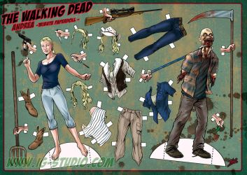 Andrea, The walking Dead (version 1) by soyivang