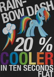 Rainbow Dash Typography Poster by Skeptic-Mousey