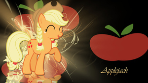 Applejack with pigtails wallpaper by LeonBrony