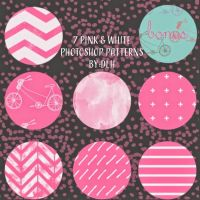 pink and white seamles patterns by DLH by toxiclolley88