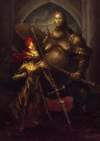 Dragon Slayer Ornstein and Executioner Smough by nastynoser