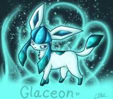 Glaceon by LeaderWolfGirl