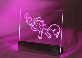 Pinkie Pie Acrylic LED Picture by steeph-k