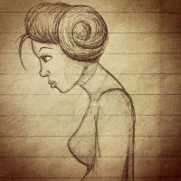 Lined Paper Leia by JMKohrs