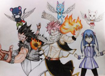 FAIRY TAIL ART by savagehearted1