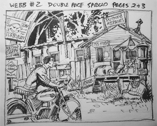 Thumbnail, double page spread , Webb Graphic Novel by cbgorby