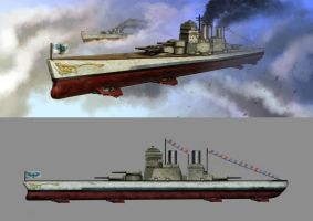 Elysa Protectorate Battleship by Lionel23