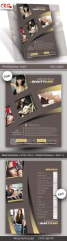 Salon and Spa Flyer and Poster Template by Redshinestudio