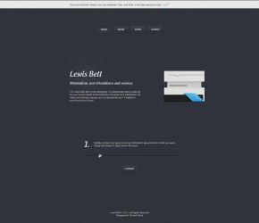 Minimal Portfolio Site Layout by ahmadhania