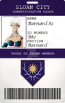 Order of Sloan Id Badge: B82 by MagicalCrystalWings