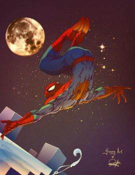Spider-Man Backflip -color- by RynoBengawan