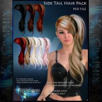 Side Tail Painted Instant add on HAIR STOCK PSD by MakeMeMagical