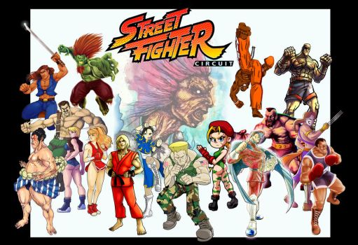 Street Fighter Circuit Poster Collab by JAG-Comics
