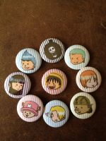 One Piece Button Set Finished by Snuckledrops