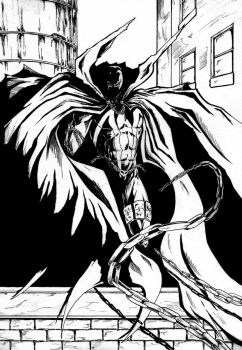 Spawn On Rooftop Ink by Thoulk