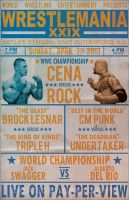 Wrestlemania 29 Vintage Poster by PaulGriffin