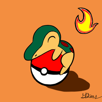 Cyndaquil doodle by Geemoney1022