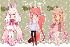 Forest Friends Adoptables - Auction!! {paypal} by Hacuubii