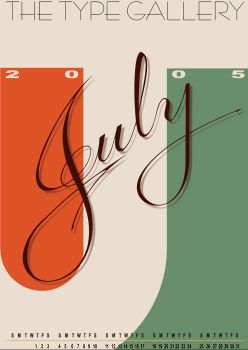 July TypographyCal by Mantasonic