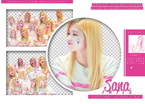 #031 | Pack PNG | Sana| Twice by jellycxt