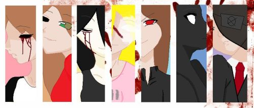 Creepypasta OC Girls by BloodyBrianna