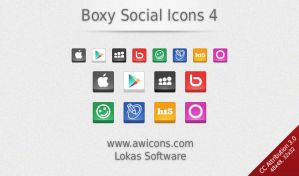 Boxy Social Media Icons 4 by Insofta