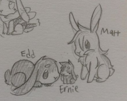 Bunny Family by LiveWireGoth