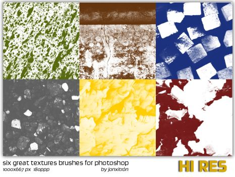 Six great Textures Brushes by jonxitron
