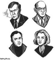 X Files characters by Super-Cute