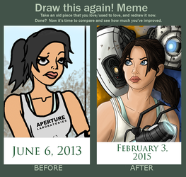 Draw This Again Meme- Chell by InkRose98